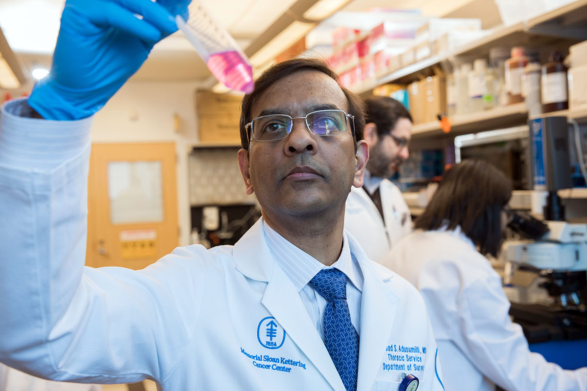 MSK thoracic surgeon and tumor immunologist Prasad Adusumilli