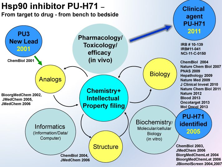 Hsp90 inhibitor PU-H71 diagram