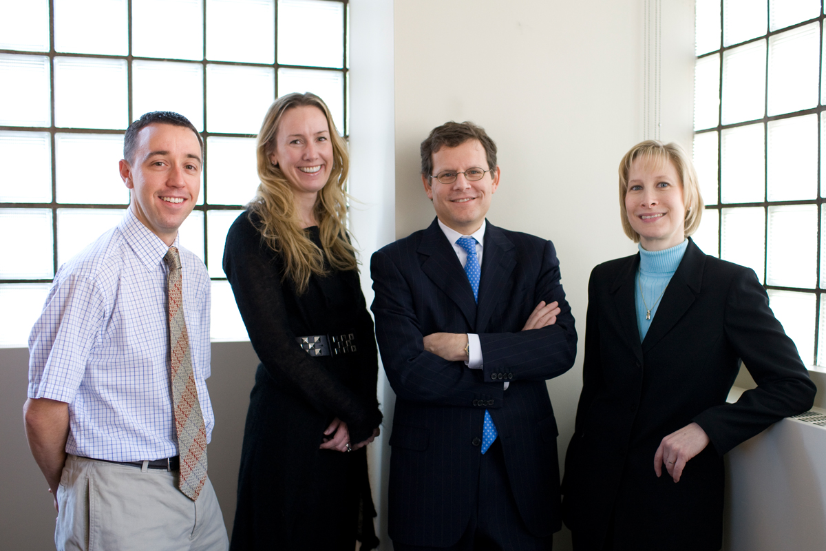 (From left) Patrick Morris, Heather McArthur, Clifford Hudis, and Maura Dickler