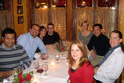 Group Holiday Dinner 2008a, diversity oriented synthesis, rational drug design, and chemical biology research