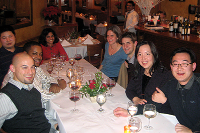 Group Holiday Dinner 2008b, diversity oriented synthesis, rational drug design, and chemical biology research