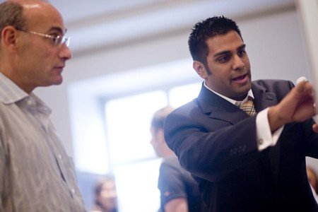 Shaps Scholar Amit Tailor (right) and Faculty Member Andrew Koff