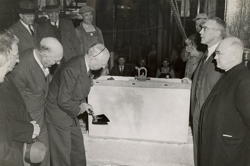 Laying of SKI cornerstone, 1947