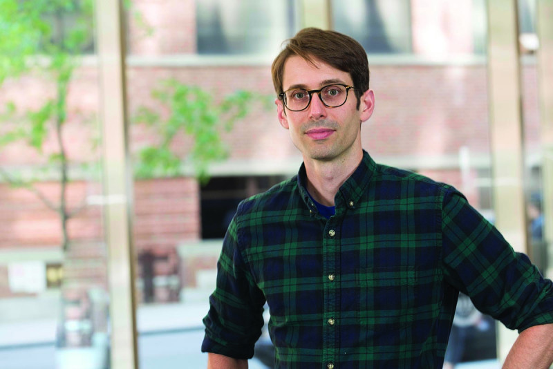 Gerstner Sloan Kettering graduate John Maciejowski studies the fate of dicentric chromosomes and their impact on the stability of genome in a lab at Rockefeller University.
