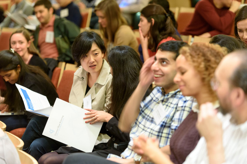 Attendees of the Experimental Therapeutics Symposium came from the five former Howard Hughes Medical Institute Med into Grad grant recipient institutions.