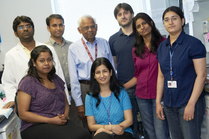 Pictured: Raju CHaganti Lab group photo