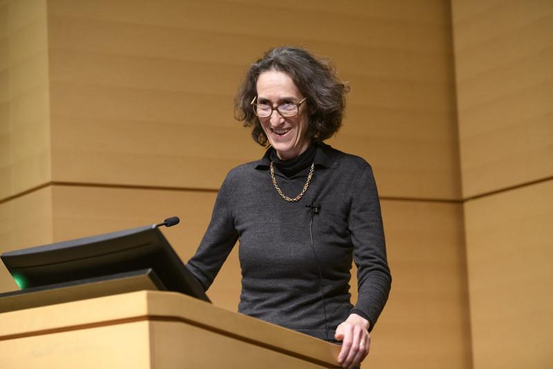 A female scientist speaking