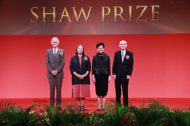 Michel Talagrand, Maria Jasin, Carrie Lam Cheng Yuet-ngor, and Edward Stone