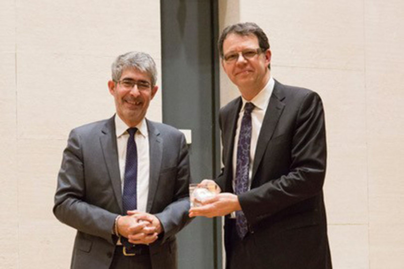 Michel Sadelain with Gilles Bloch, President and CEO of Inserm