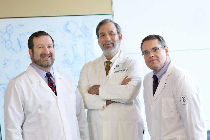 (From left) David Scheinberg, Andrew Zelenetz, and Joseph Jurcic are using monoclonal antibodies to improve the treatment of patients with leukemia and lymphoma.
