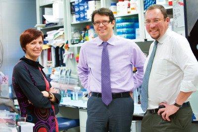 Pictured: Isabelle Rivière, Michel Sadelain & Renier Brentjens