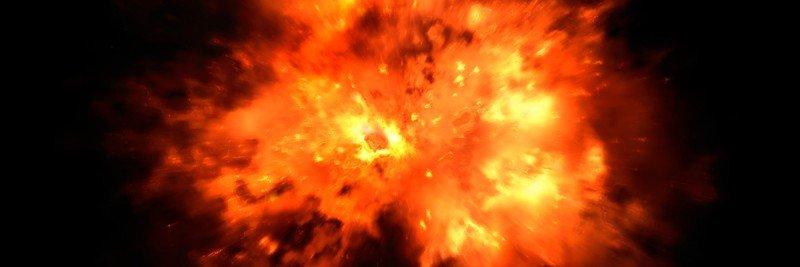 Image of fireball-type explosion on black background.