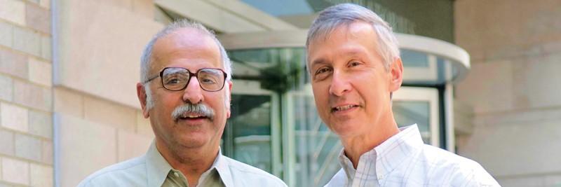 Dinshaw Patel (left) and David Allis